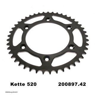 Chain and Sprocket Set KTM Duke II 640 04-06, Chain RK 520 XSO 118, open, 17/42