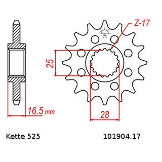 Chain and Sprocket Set KTM Adventure 990 05-09  Chain RK GB525GXW 118  open  GOLD  17/42
