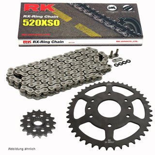 Chain and Sprocket Se KTM Duke 125 14-17, Chain RK 520 XSO 112, open, 14/45