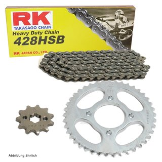 Chain and Sprocket Set KTM SX 85 GROSSES RAD 05-15  chain RK 428 H 122  open  14/49