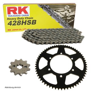 Chain and Sprocket Set Yamaha WR 125 R  X 09-17  chain RK 428 H 134  open  14/53