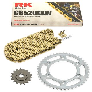 RK Gold Chain and JT Sprocket Kit Yamaha Banshee 350