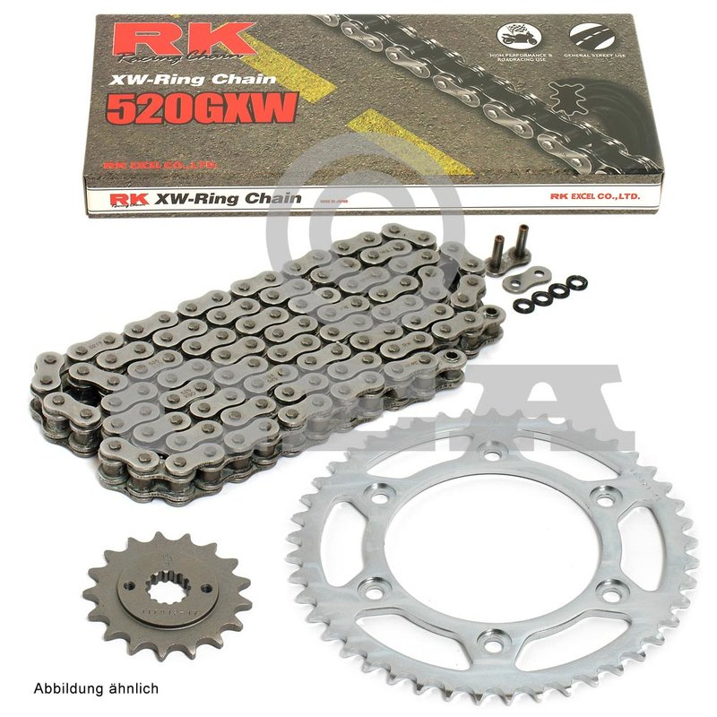 GOLD X-Ring Chain /& and Sprocket Set Kit YAMAHA XJR400 93
