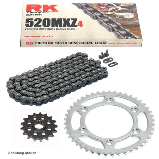 RK Racing Chain 520MXZ4-106 106-Links MX Chain with Connecting Link