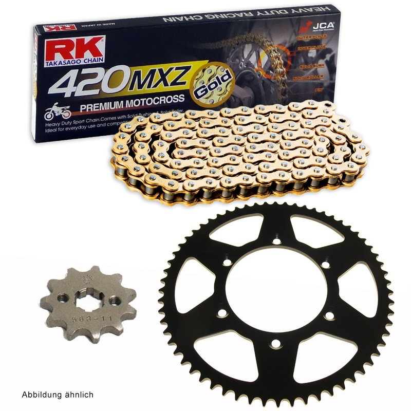 RK Racing Chain GB420MXZ-86 Gold 86-Links Heavy Duty Chain with Connecting Link
