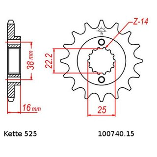 Chain and Sprocket Set Ducati ST2 Sporttouring 944 97-03  chain DID 525 ZVM-X 102  open  15/42