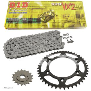 Chain and Sprocket Set KTM SMR 450 R Supermoto 04-07  chain DID 520 VX2 118  open  14/45
