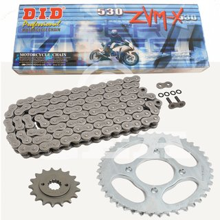 Chain and Sprocket Set Yamaha FJ 1100 84-85  chain DID 530 ZVM-X 110  open  17/41