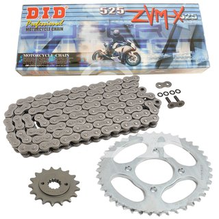 Chain and Sprocket Set Yamaha FZ8 10-15  chain DID 525 ZVM-X 122  open  16/46
