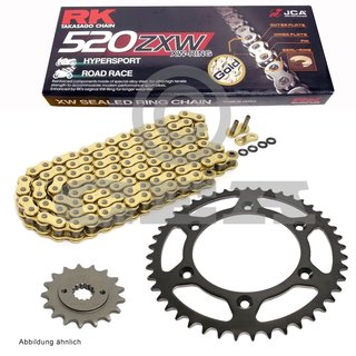 RK Racing Chain GB520EXW-124 124-Links Gold XW-Ring Chain with Connecting Link