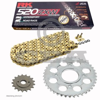 RK Racing Chain GB520XSO-118 118-Links Gold X-Ring Chain with Connecting Link