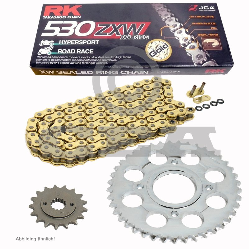 RK Racing Chain GB530GXW 116 116-Links Gold XW-Ring Chain with Connecting Link