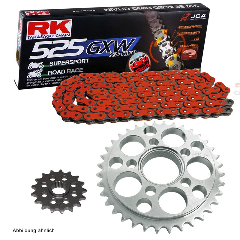 RK Racing Chain 525GXW-140 Steel 140-Links XW-Ring Chain with Connecting Link