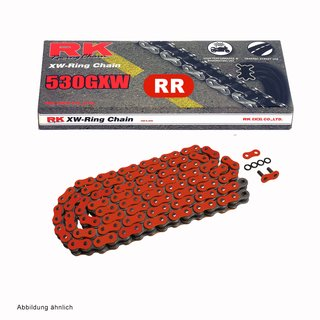 Chain and Sprocket Set Yamaha MT-01 05-12  Chain RK RR 530 GXW 114  RED  open  17/39