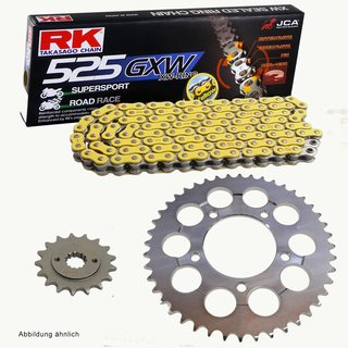 Chain And Sprocket Set Kawasaki Klv 1000 04 06 Chain Rk Yy525gxw 112