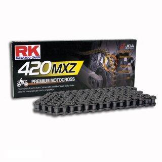 15//38 GR/ÜN Kettensatz Suzuki RV 50 73-81 offen Kette RK CG 420 SB 124