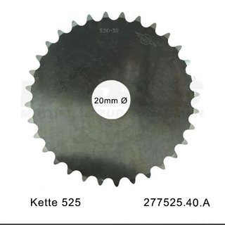 Aluminum sprocket blank in 525 pitch with 40 teeth