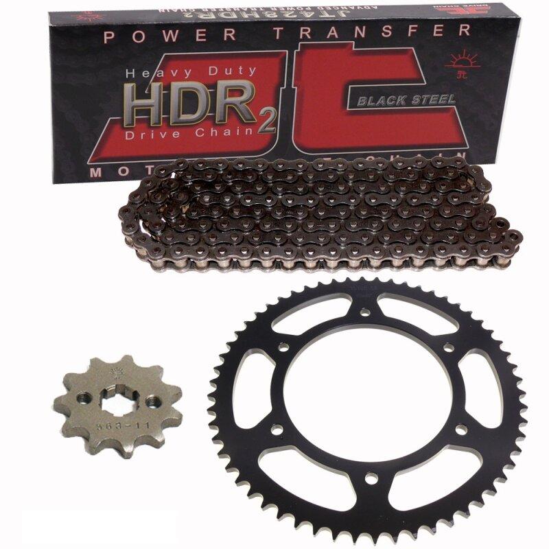 Honda CRF250 CR125 Sprocket Set 50T Chain Heavy Duty O-Ring Kit Black 14T
