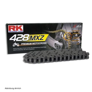 MotoCross Racing Chain RK 428MXZ with 126 Links and Clip  Connecting Link  open