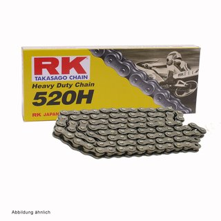 Motorcycle Chain RK 520H with 94 Links and Clip Connecting Link  open