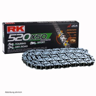 Motorcycle RX Ring Chain RK 520XSO with 108 links and Rivet  Connecting Link  open