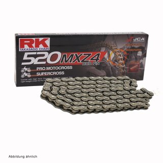 MotoCross Racing Chain RK 520MXZ4 with 114 Links and Clip  Connecting Link  open