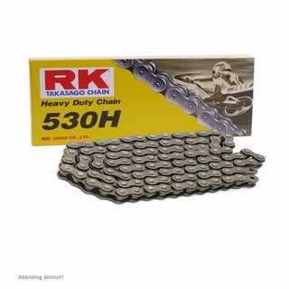 Motorcycle Chain RK 530H with 100 links and Clip  Connecting Link  open