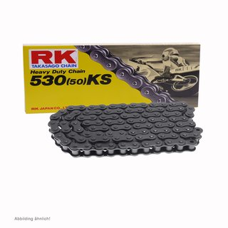 Motorcycle Chain RK 530KS with 100 Links and Clip  Connecting Link  open