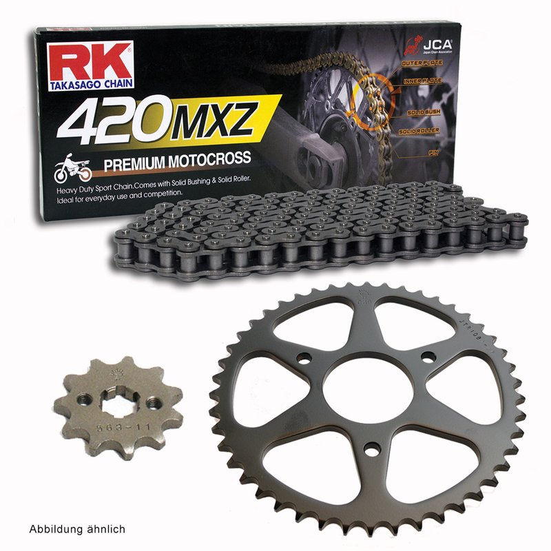 RK Racing Chain 420MXZ-96 96-Links MX Chain with Connecting Link