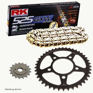 DID Chain 525 VX 108 Links X-Ring with rivet link. gold open