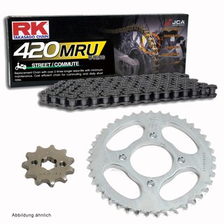 Chain and Sprocket Set Honda AFS 110 Wave 12-13  chain RK 420 S0 104  open  15/37
