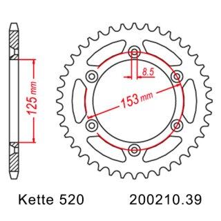 Chain and Sprocket Set Honda CRF 230 L 08-09, chain RK GB