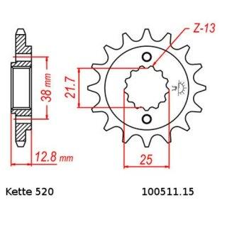 Kawasaki KLX 650 C DID Kettensatz chain kit 520 VX2 1993-1995