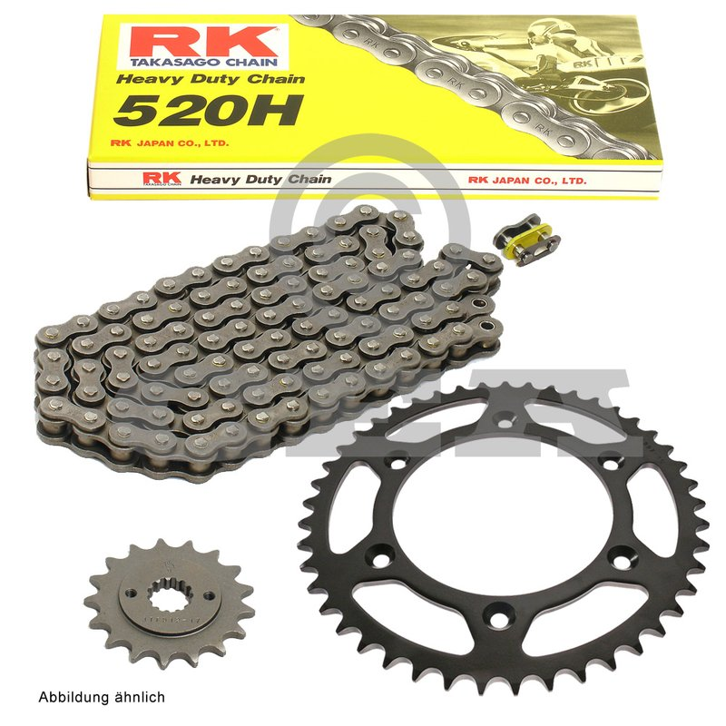 DID Chain 520 VX2 118 Links X-Ring-Open with Clip Lock