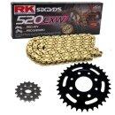 Kettensatz geeignet f/ür KTM EXC 200 Enduro 98-99 Kette RK FR 520 H 118 offen ROT 14//50