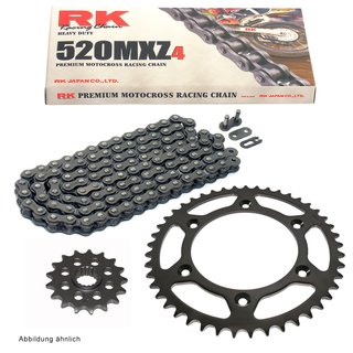 Chain and Sprocket Set KTM EXC 300 E 1999  Chain RK 520 MXZ4 118  open  14/50
