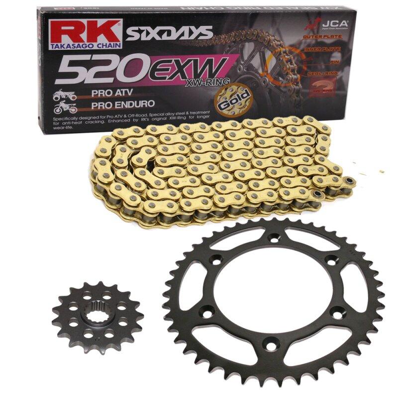 Kettensatz Ktm Sx 380 98 02 Kette Rk Gb 520 Exw 118 Offen Gold 14
