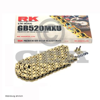 Chain and Sprocket Set KTM SX 400 00-02  chain RK GB 520 MXU 118  open  GOLD  14/50
