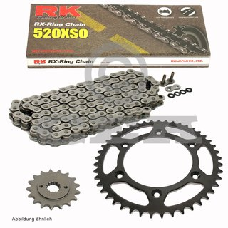 Chain and Sprocket Set KTM SMR 450 R Supermoto 04-07, Chain RK 520 XSO 118, open, 14/45