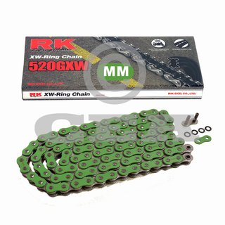 Chain and Sprocket Set  KTM SMR 450 R Supermoto 04-07  Chain RK MM 520 GXW 118  GREEN  open  14/45
