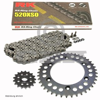 Chain and Sprocket Se KTM Duke 620 94-98, Chain RK 520 XSO 118, open, 17/38