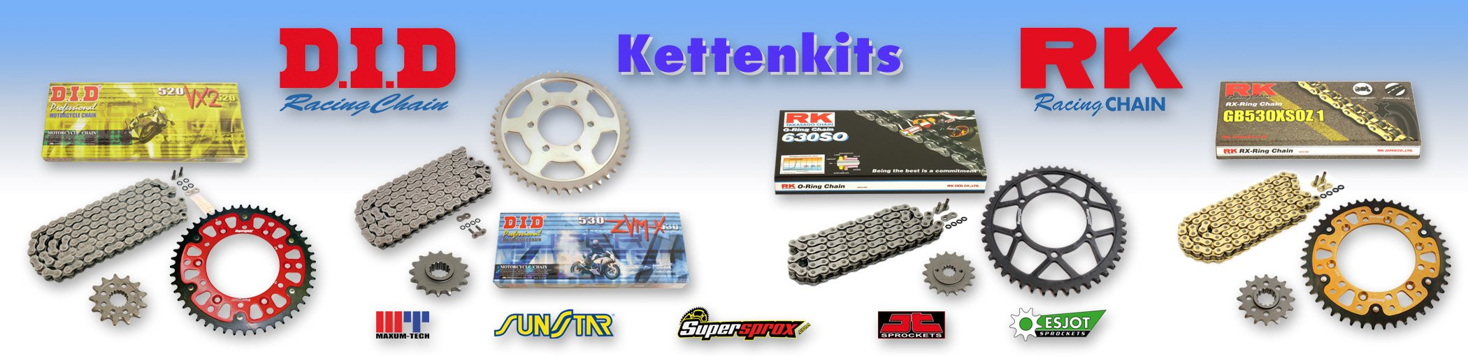 RK Racing Chain GB525XSO-114 Gold 114-Links RX-Ring Chain with Connecting Link